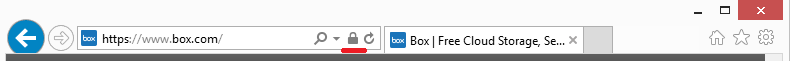 Box address bar